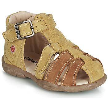 Sapatos Rapaz Sandálias GBB PRIGENT Mostarda