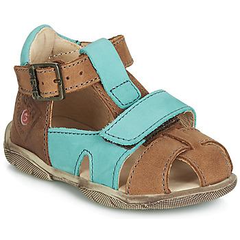 Sapatos Rapaz Sandálias GBB SEROLO Castanho