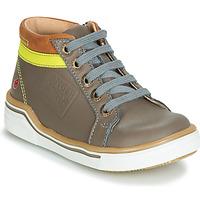 Sapatos Rapaz Sapatilhas de cano-alto GBB QUITO Cinza / Amarelo