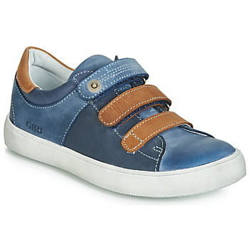 Sapatos Rapaz Sapatilhas GBB POMMOR Azul / Castanho