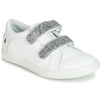 Sapatos Rapariga Sapatilhas GBB BALOTA Branco / Prata