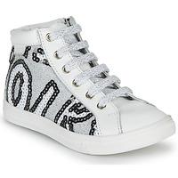 Sapatos Rapariga Sapatilhas de cano-alto GBB MARTA Branco / Prata