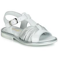 Sapatos Rapariga Sandálias GBB MESSENA Branco / Prata