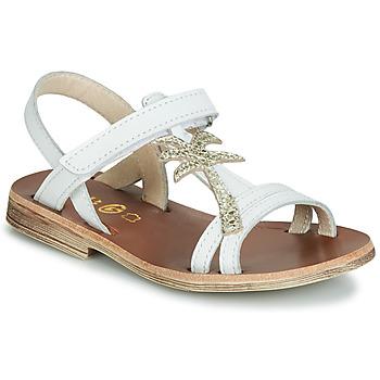 Sapatos Rapariga Sandálias GBB SAPELA Branco / Ouro
