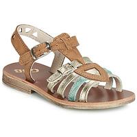 Sapatos Rapariga Sandálias GBB FANNI Conhaque / Ouro