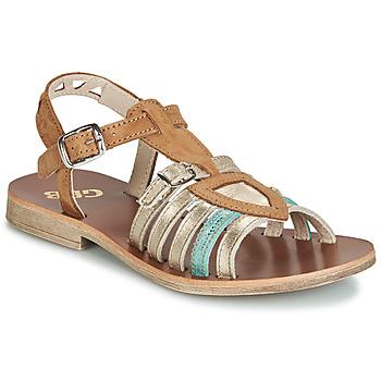 Sapatos Rapariga Sandálias GBB FANNI Castanho / Ouro