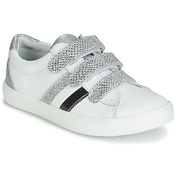 Sapatos Rapariga Sapatilhas GBB MADO Branco / Prata