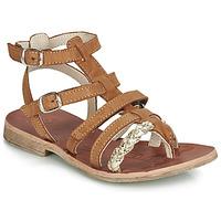 Sapatos Rapariga Sandálias GBB NOVARA Conhaque / Ouro