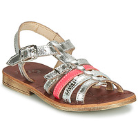 Sapatos Rapariga Sandálias GBB BANGKOK Prata / Rosa