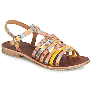 Sapatos Rapariga Sandálias GBB BANGKOK Multicolor / Amarelo