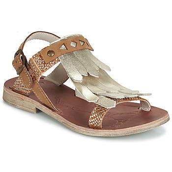Sapatos Rapariga Sandálias GBB ACARO Castanho / Ouro