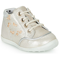 Sapatos Rapariga Sapatilhas de cano-alto Catimini BALI Bege - prata