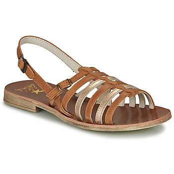 Sapatos Rapariga Sandálias Catimini NOBO Conhaque / Ouro