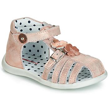 Sapatos Rapariga Sandálias Catimini VANUA Rosa / Ouro