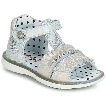 Sapatos Rapariga Sandálias Catimini BIRA Prata / Bege