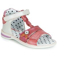 Sapatos Rapariga Sandálias Catimini GOROKA Branco / Vermelho