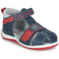 Sapatos Rapaz Sandálias Catimini BALIMO Marinho / Vermelho