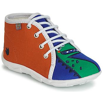 Sapatos Rapaz Chinelos GBB MARCCO Laranja / Azul