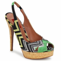 Sapatos Mulher Sandálias Missoni RM71 Verde