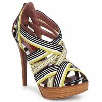 Sapatos Mulher Sandálias Missoni RM20 Amarelo / Branco