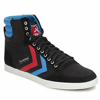 Sapatos Sapatilhas de cano-alto Hummel TEN STAR HIGH CANVAS Preto / Azul / Vermelho