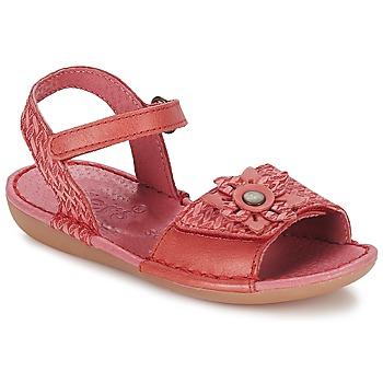 Sapatos Rapariga Sandálias Kickers EVANA Vermelho / Coral