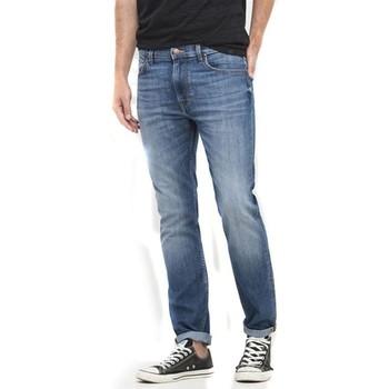 Textil Mulher Calças de ganga slim Lee Rider L701ACDK blue