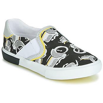 Sapatos Rapaz Slip on Catimini CAMAZO Branco / Preto