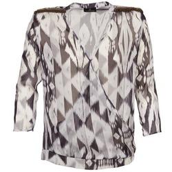 Textil Mulher Tops / Blusas One Step CREPUSCULE Cinza / Branco