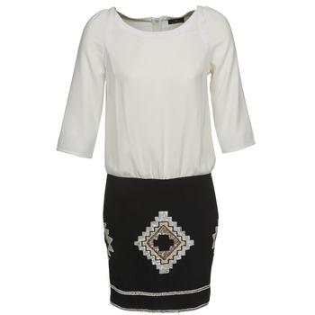 Textil Mulher Vestidos curtos One Step RAMBOUTAN Branco / Preto