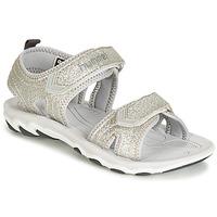 Sapatos Rapariga Sandálias Hummel SANDAL GLITTER JR Prata
