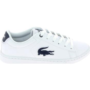 Sapatos Criança Sapatilhas Lacoste Carnaby Evo C Blanc Bleu Branco
