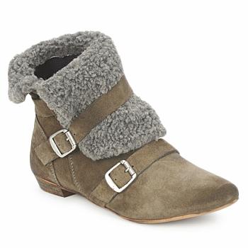 Sapatos Mulher Botas baixas Bronx CREPOU Castanho / Cinza