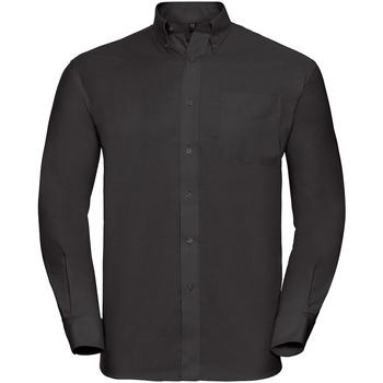 Textil Homem Camisas mangas comprida Russell 932M Preto