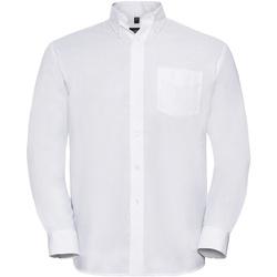 Textil Homem Camisas mangas comprida Russell 932M Branco