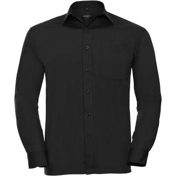 Textil Homem Camisas mangas comprida Russell 934M Preto