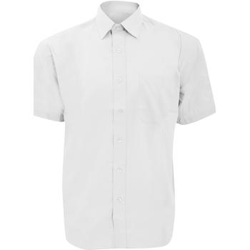 Textil Homem Camisas mangas curtas Russell 935M Branco