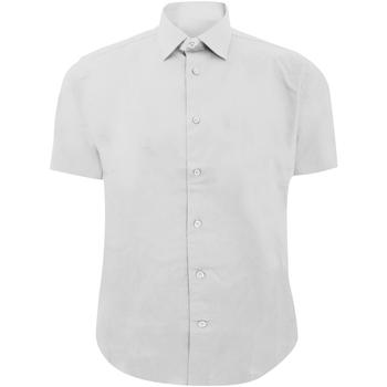 Textil Homem Camisas mangas curtas Russell 947M Branco
