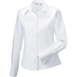 Textil Mulher camisas Russell Ultimate Branco