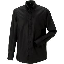Textil Homem Camisas mangas comprida Russell 956M Preto