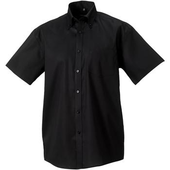 Textil Homem Camisas mangas curtas Russell 957M Preto