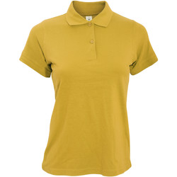 Textil Mulher Polos mangas curta B And C PW455 Ouro