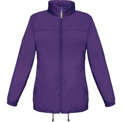 Textil Mulher Corta vento B And C JW902 Púrpura