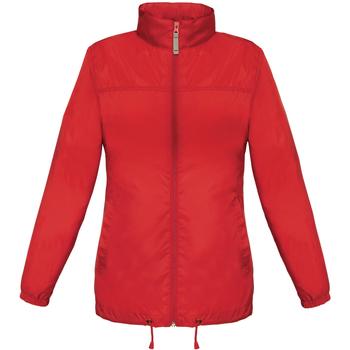 Textil Mulher Corta vento B And C JW902 Vermelho