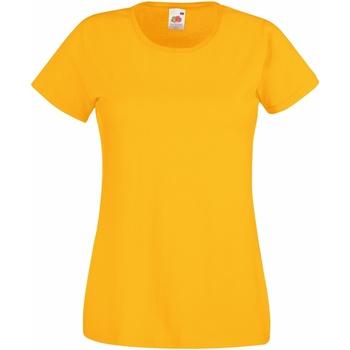 Textil Mulher T-Shirt mangas curtas Fruit Of The Loom 61372 Girassol