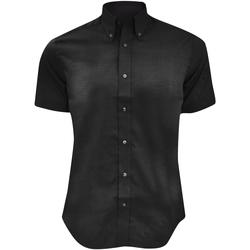 Textil Homem Camisas mangas curtas Kustom Kit KK187 Preto