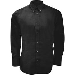 Textil Homem Camisas mangas comprida Kustom Kit KK188 Preto