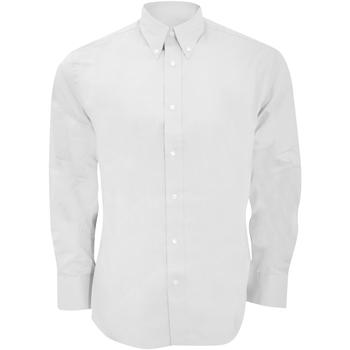 Textil Homem Camisas mangas comprida Kustom Kit KK188 Branco