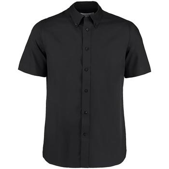 Textil Homem Camisas mangas curtas Kustom Kit KK385 Preto