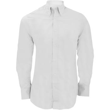 Textil Homem Camisas mangas comprida Kustom Kit KK386 Branco